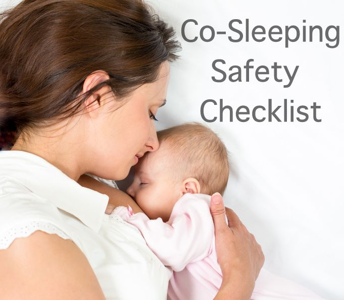 Co-Sleeping Safety Checklist: My 7 point co-sleeping checklist, an alternative for babies that hate tummy time, and the one thing I disagree with Dr. Sears on.