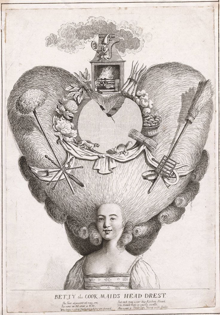 Betty the cooks maid head drest, June 13th, 1776, Lewis Walpole Library Digital Collection