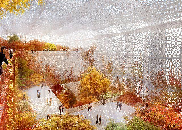 Jean Nouvel'in Çin Ulusal Sanat Müzesi Projesinin İnşaatı Başladı