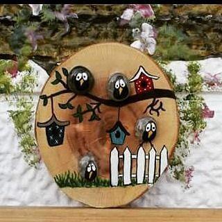 "14 Likes, 1 Comments - taşveağacındönüşümü (@tasveagacindonusumu) on Instagram: ""#tasveagacindonusumu#taş #ağaç #handmade #stone #wood#bird#pebbleart"""