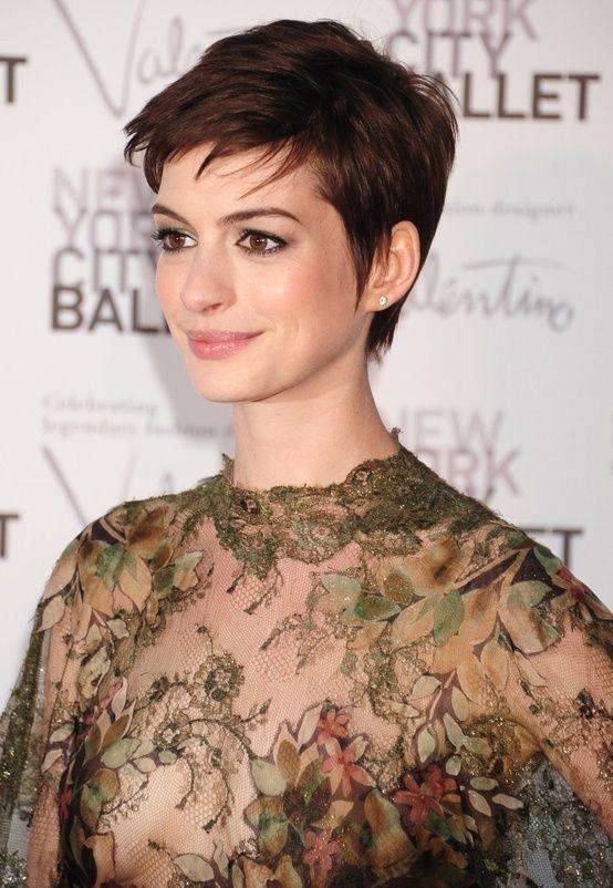 Anne Hathaway pixie cut by adela