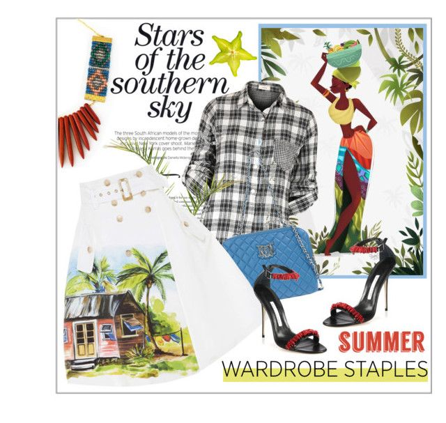 """Summer plaid shirt"" by edita1 on Polyvore"
