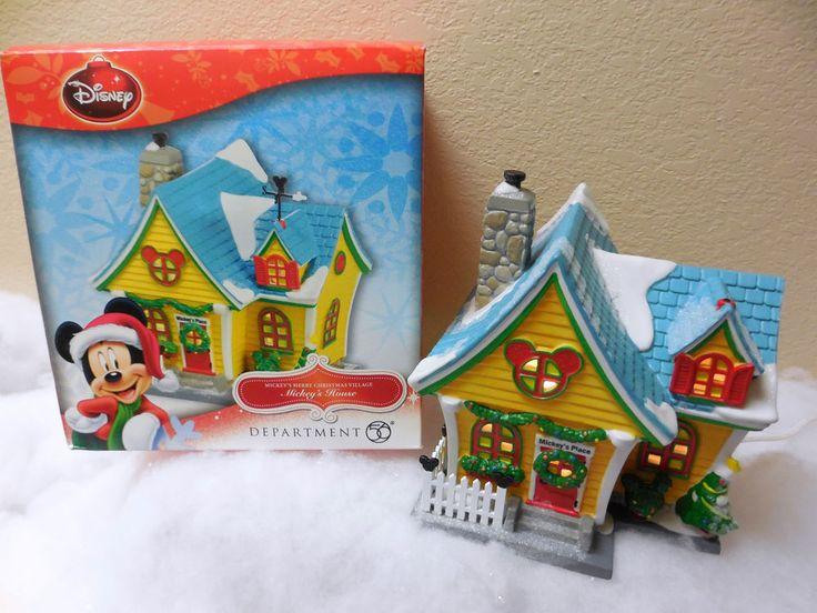 "NIB Dept 56 MICKEYS Merry Christmas Village ""MICKEY'S HOUSE"" 4027599 Lighted"