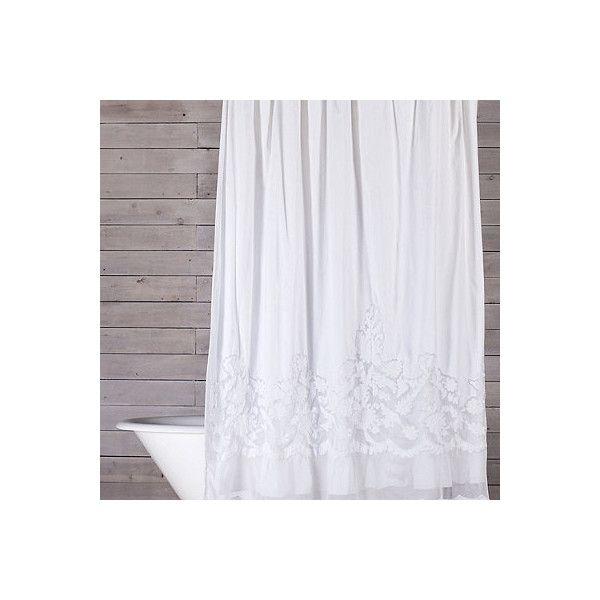 Shower Curtains cotton shower curtains : 1000+ ideas about Lace Shower Curtains on Pinterest | Shower ...