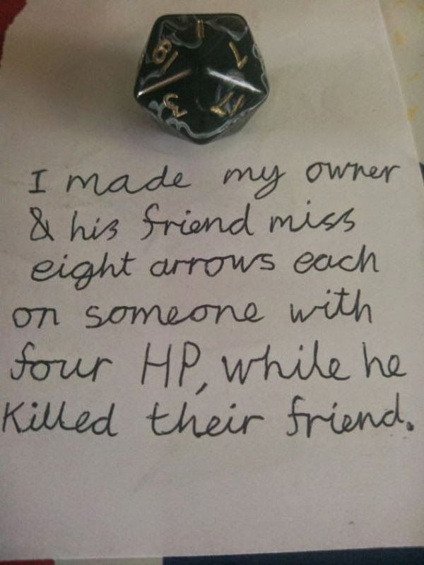 Classic dice shaming
