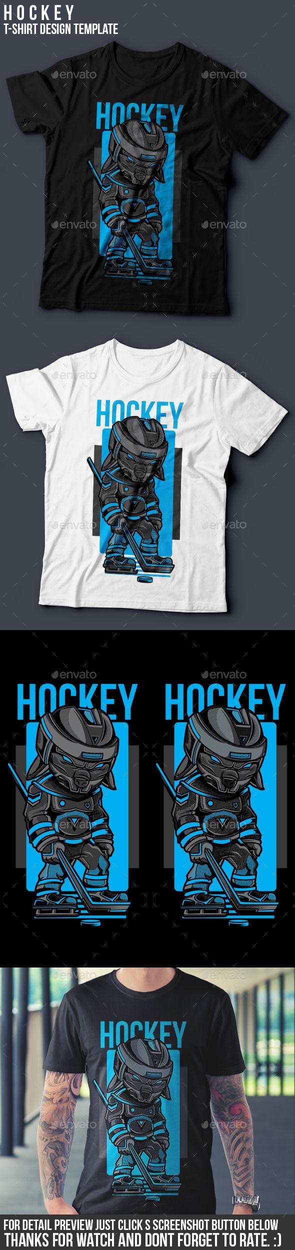 Shirt design template size - Hockey T Shirt Design