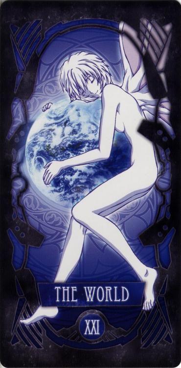 "Neon Genesis Evangelion Tarot Cards |The World| ""XXI"""