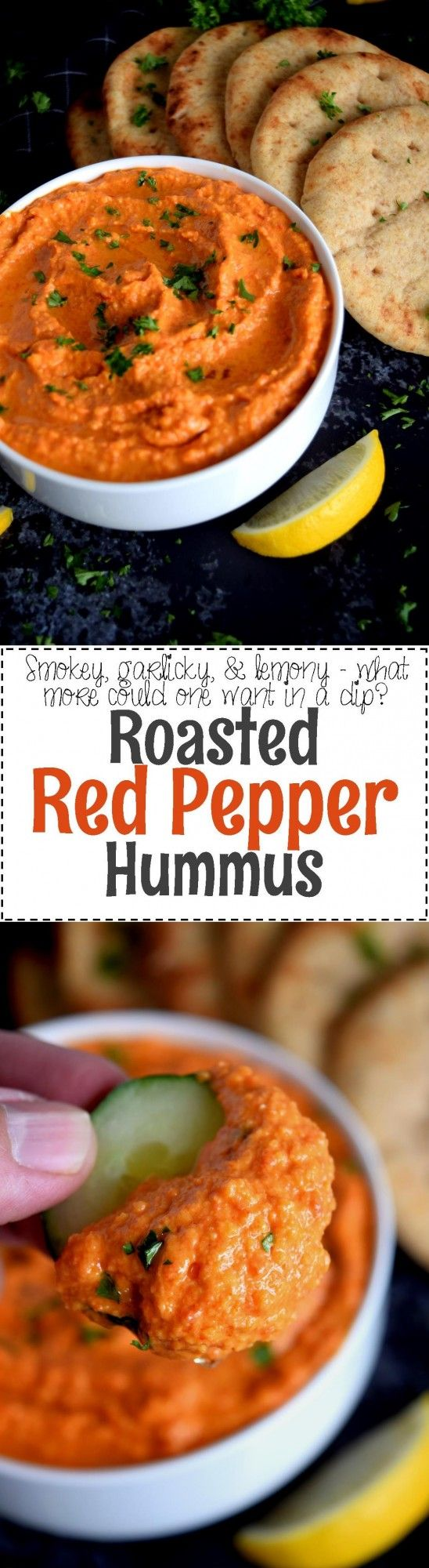 Roasted Red Pepper Hummus - Lord Byron's Kitchen