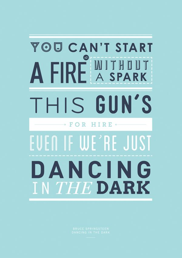 bruce springsteen | dancing in the dark #lyrics