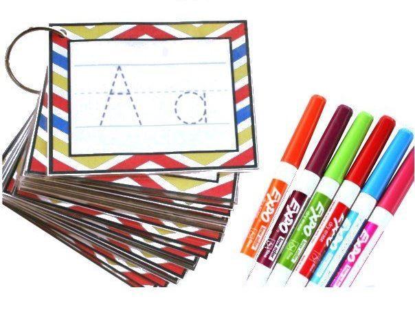 Tarjetas del abecedario para practicar los trazos