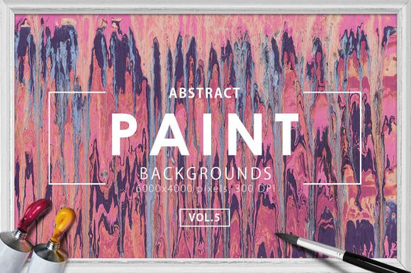 Abstract Paint Backgrounds Vol. 5 by ArtistMef on @creativemarket