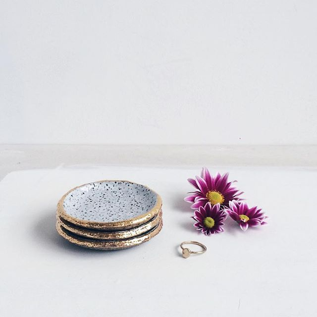 New speckled gold ring dishes up online ✨ #dotandco