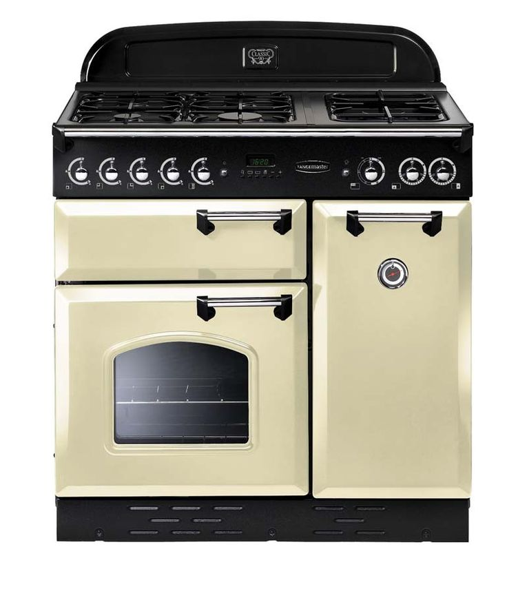 Rangemaster Classic 90 Natural Gas Cream/Chrome Range Cooker 73440