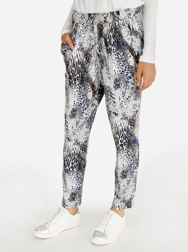 SLICK Kate Relaxed Fit Harem Pants Mid Grey