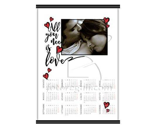 Calendario A3 pagina singola Need love