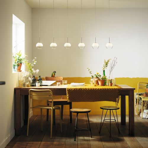 Schöne LED Pendelleuchte Arago in weiß  dimmbar  6-flg.   PHILIPS   371693116 - click-licht.de