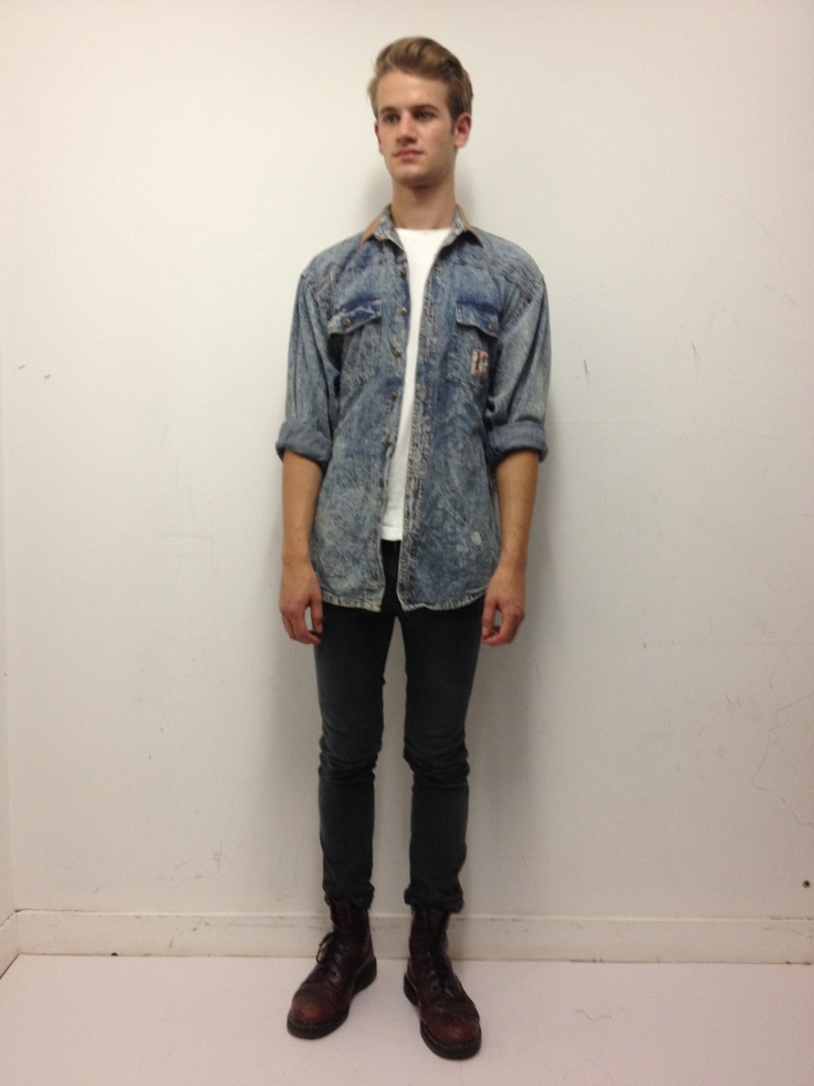 Vintage stone washed denim shirt. Click to buy!