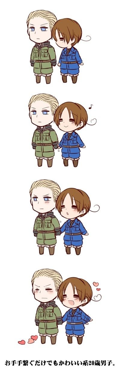 If you ever want or need to learn about the two world wars with the simplest explanations, Hetalia: Axis Powers is perfect for you to watch! Germany x Italy