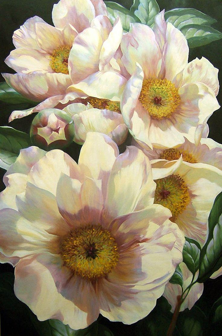Pi di 25 fantastiche idee su pittura di fiori a olio su for Fiori ad olio