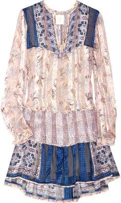 ShopStyle: Anna Sui Floral-print silk tunic