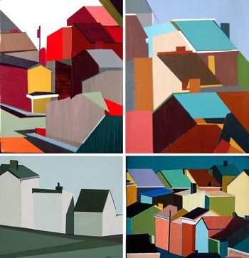 color blocked homes