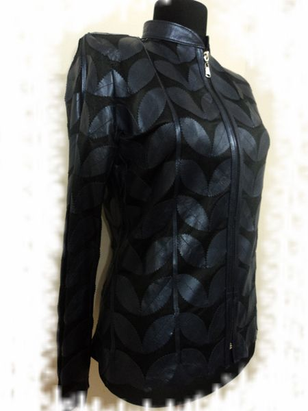 Buy Online Handmade Very Soft Genuine Lambskin Plus Size Navy Blue Leather Leaf Jacket for Women. All Regular and Plus Sizes Available. Free Shipping + Returnable. [ BUY 2 SAVE $20 ] ...