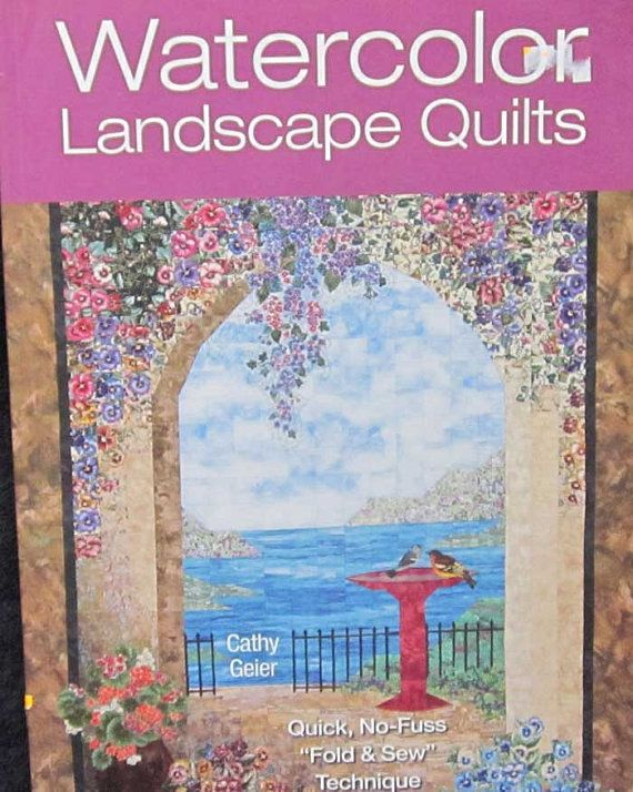 Book Cover Watercolor Quilt : Best images about quilting books on pinterest art