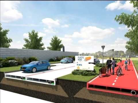 Plastic Roads could replace tar roads - YouTube