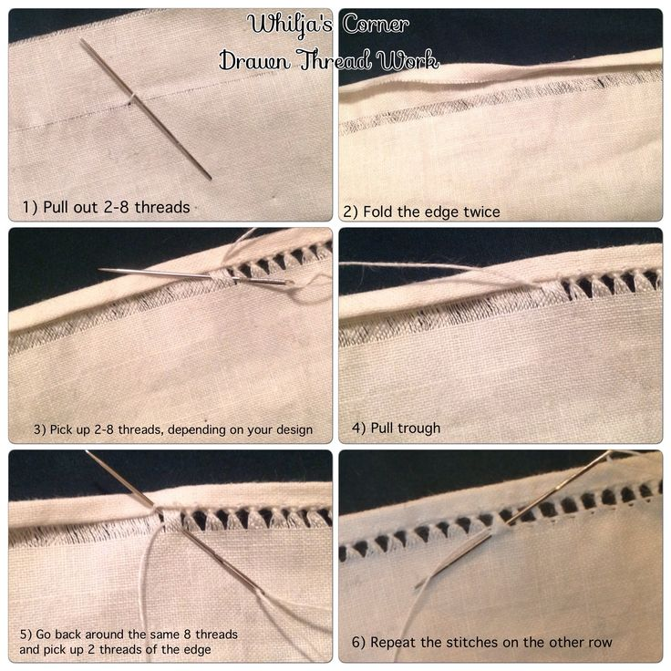 How to hem an edge with Drawn Thread Work