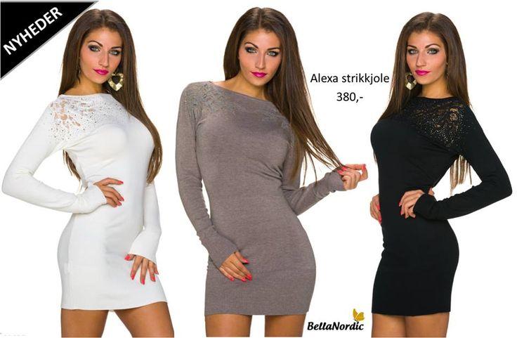 ❤ Vi har shoppen fuld af skønne efterårsvarer ❤ Vores nye Alexa strikkjole er kommet hjem til shoppen i både taupe, sort og hvid ❤ Pris 380,- ❤ Hvilken farve ville du ønske dig? http://bellanordic.dk/kjoler/strik-og-hverdagskjoler/