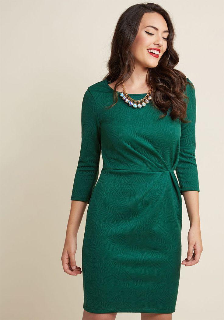 Raise Some Wows Sheath Dress in Emerald in M - Mini