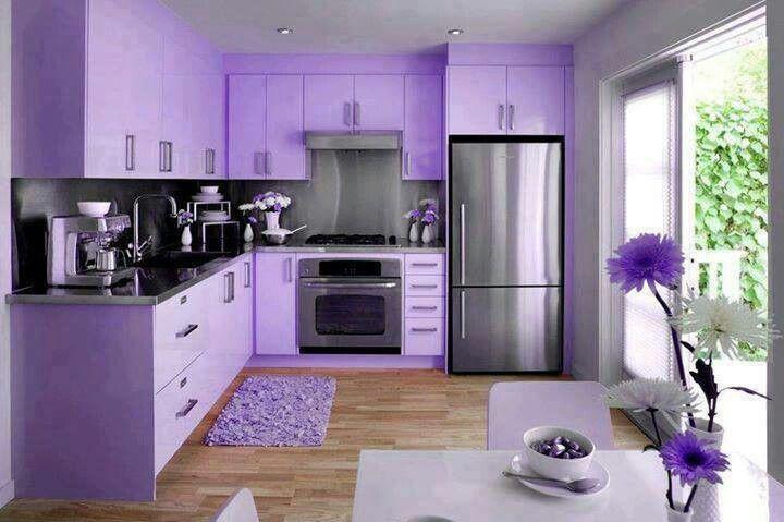 Purple kitchen  Soda Shop Decor  Pinterest