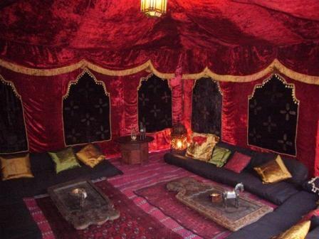 Inside Of Elegant Arab Tents