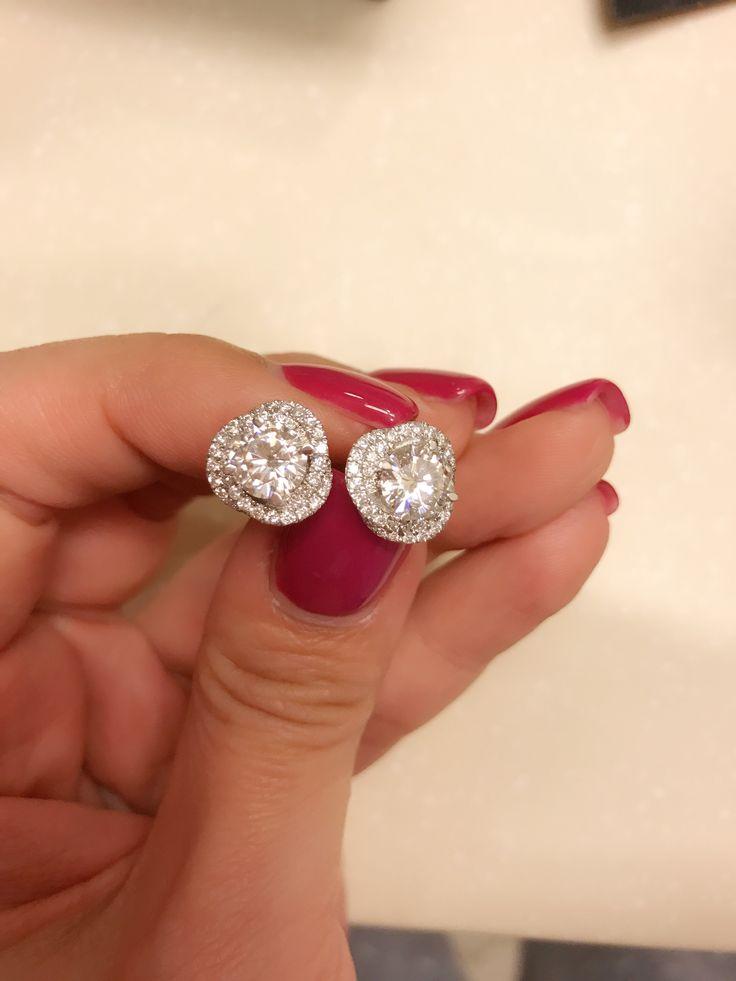 Cartier trinity ruban diamond studs