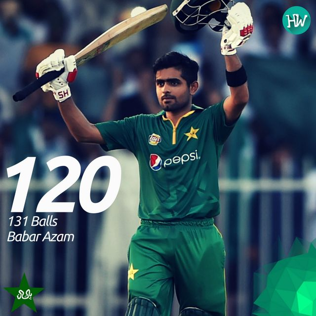 Babar Azam was awarded the Man of the Match for his maiden ODI century! #PAKvWI #PAK #WI #cricket