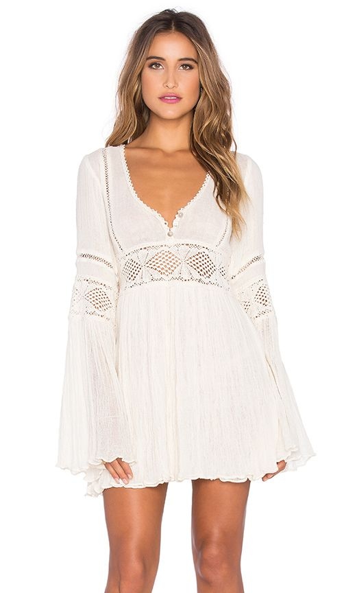 Jen's Pirate Booty VESTIDO ENCHANTED BABYDOLL em Natural | REVOLVE