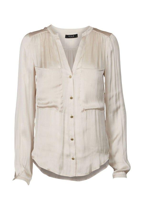 VILA Vilottie shirt - pristine
