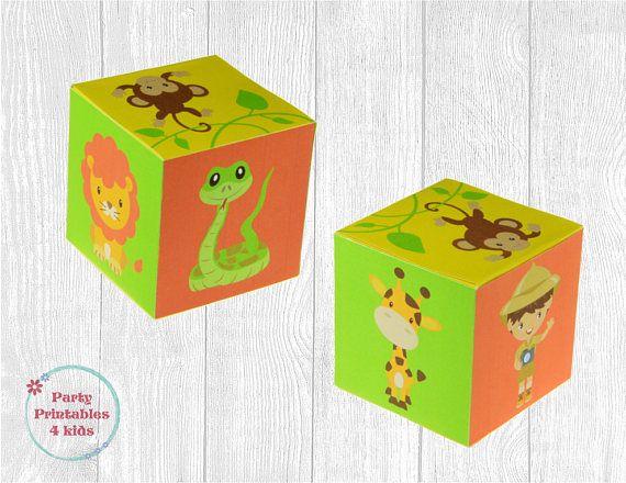 Safari Party Favor Box Safari Treat Box DIY Gift Box Safari