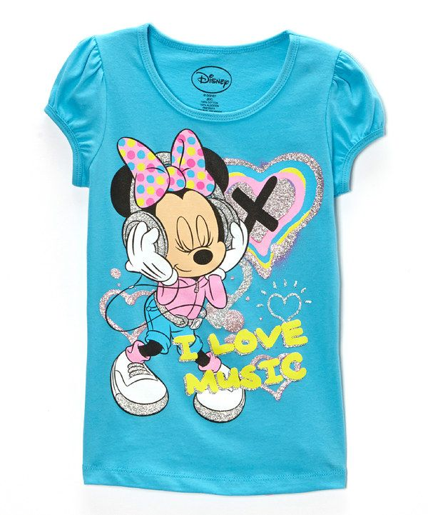 Look at this Swimmer Blue 'I Love Music' Tee - Girls on #zulily today!