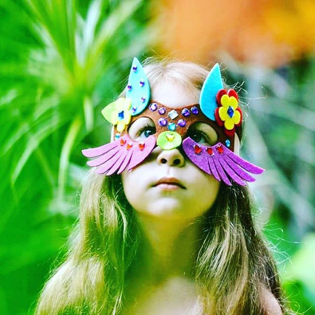 Lily says she's a fox and the queen of the jungle. We love her imagination and creative spirit expressed through her Seedling Make Your Own Animal Mask Creation.