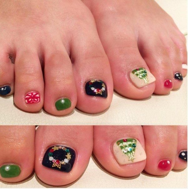 236 best christmas pedicure design images on pinterest nail 236 best christmas pedicure design images on pinterest nail scissors candy cane nails and christmas nails prinsesfo Images