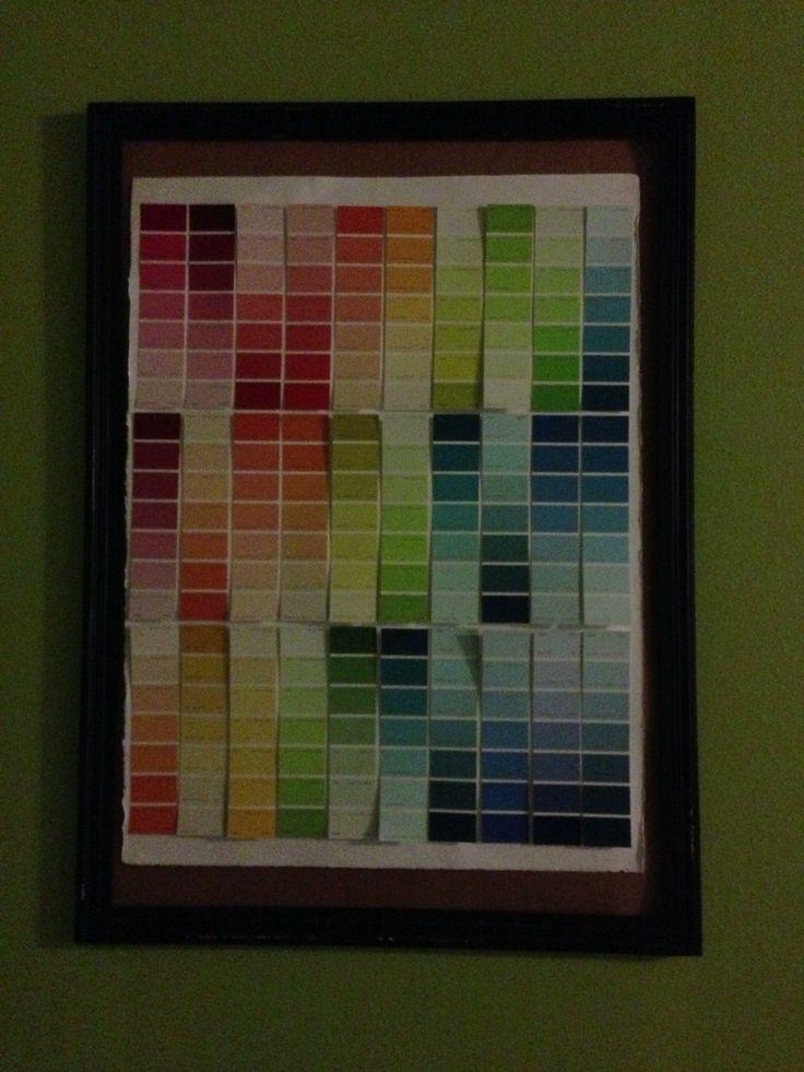 Color swatch art. Color gradient.