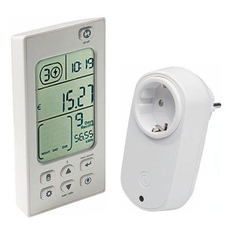 8 Geräte per Funk steuern und Energiekosten anzeigen – Funk-Energiekostenmonitor PCA 301