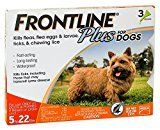 #9: Merial Frontline Plus Flea and Tick Control for 5-22 Pound Dogs and Puppies 3-dose