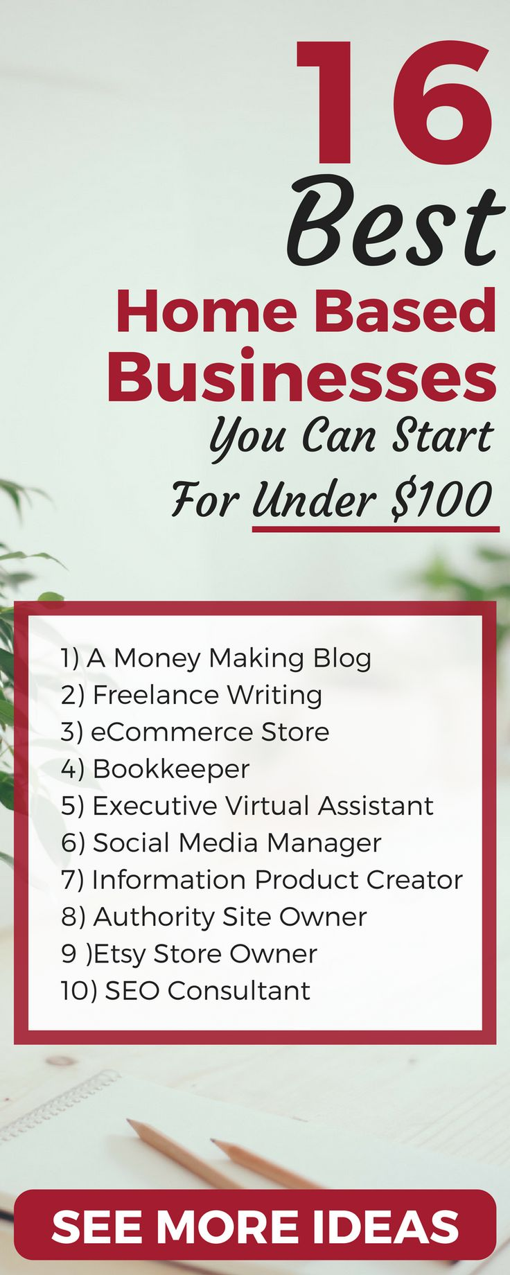 Want to work from home? Here's 16 of the fastest-growing home base business ideas. See the side hustles you can launch for under $100 to make extra money.