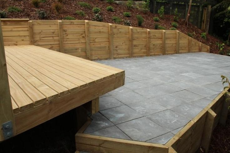 Pine Deck with Paving and Retaining - Meadowbank