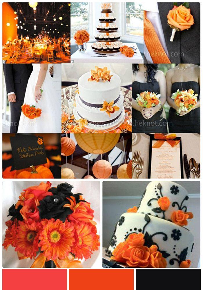 Oranssia, mustaa, valkoista