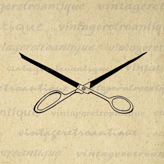 Digital Image Scissors Shears Download Hair Salon Barber Graphic ...