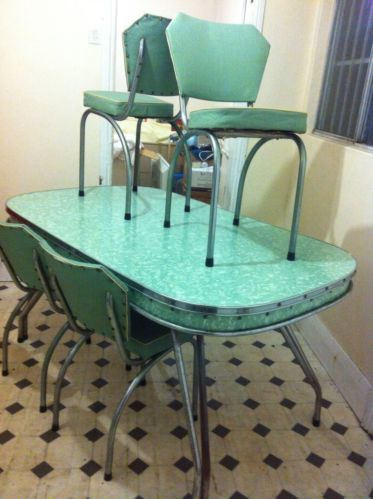 Retro Formica Kitchen Table 1950 in Sydney, NSW  eBay
