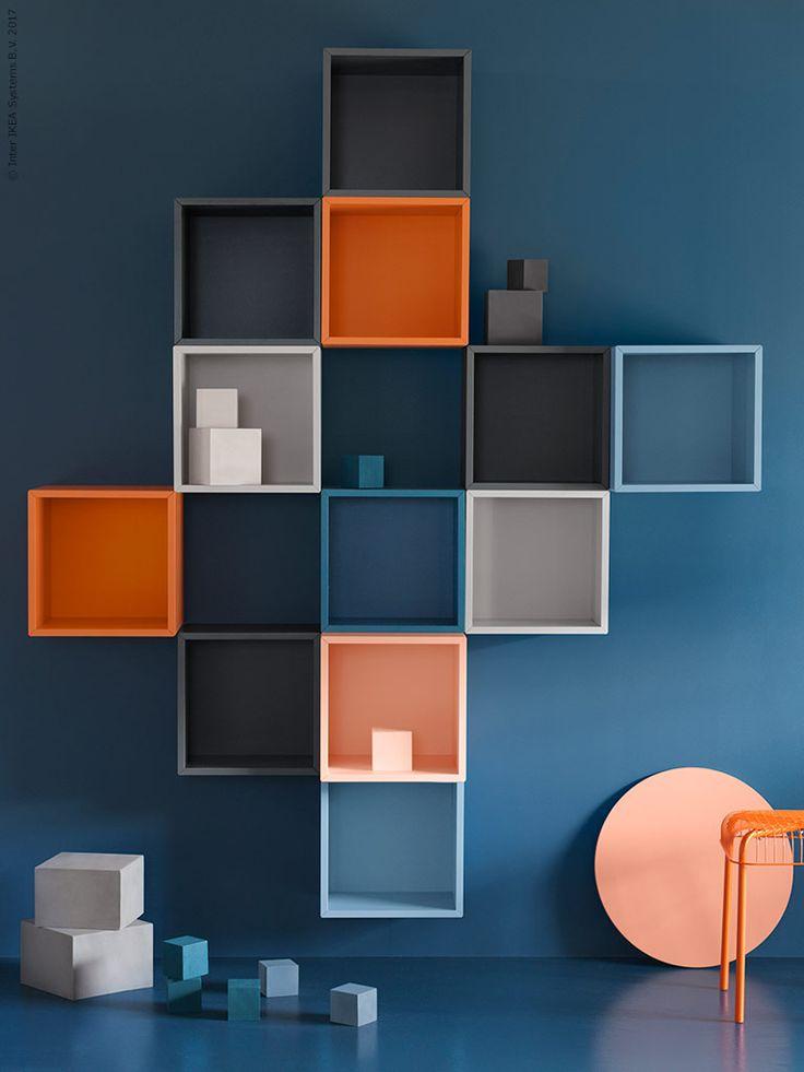 Blått och orange är vårens färger och EKET kommer i flera olika nyanser av just de två.